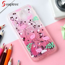 Glitter Liquid Coque Cases For Samsung Galaxy J7 J5 J3 2016 2017 2015 Prime Pro Pop Emerge Duos J327P J530 J730 J710F TPU Case(China)