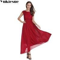 Kobiety ubierają 2017 lato style moda krótkim rękawem wysokiej talii szyfon koronki wedding party dress kobiet vestidos Plus rozmiar 5XL