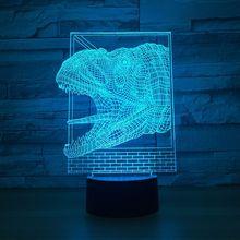 3D LED модели головы динозавра игрушки интерьера модель с led hotel коллекция подарок украшения