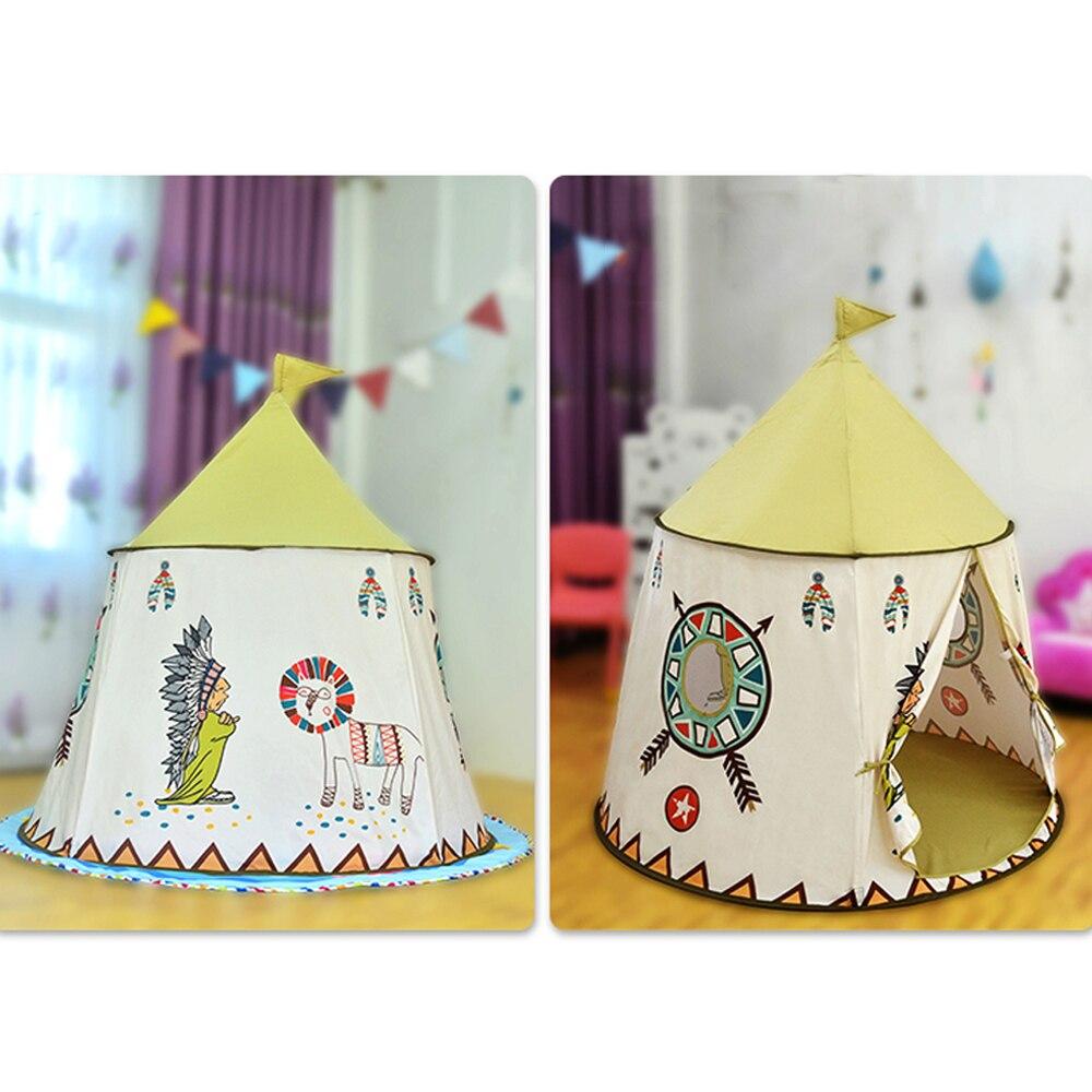 Ultimate SaleYARD Teepee Tent House Hang-Flag Princess Castle Christmas-Gift Birthday Portable Children