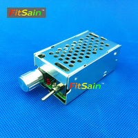 FitSain Input DC12V 40V PWM 10A Pulse Width Modulation Controller Speed Governor For Motor Speed Thermostat
