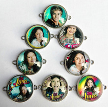 30pcs/lot Super pop singer Soy Luna Elenco de Soy Luna 20mm Cabochons Jewelry Finding Cameo Pendant bracelet Earrings Settings