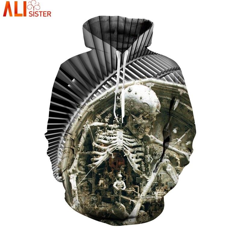 Alisister Skull Hoodies 3d Sweatshirt EUR Size Hip Hop Sudaderas Hombres Tracksuit Moletom Sportswear Pullovers Sweat Homme
