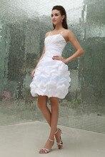 free shipping 2013 new design vestidos formales handmade brides maid dress white taffeta party sexy short mini Cocktail Dresses
