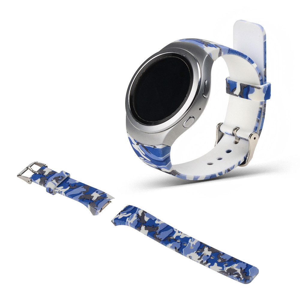 цена на Luxury Silicone Watch Band Strap For Samsung Galaxy Gear S2 SM-R720  Correa wholesale  Sep28