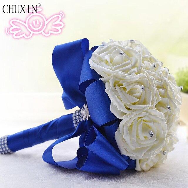 Original Design Kunstliche Seidenblumen Braut Hand Hochzeit Bouquet