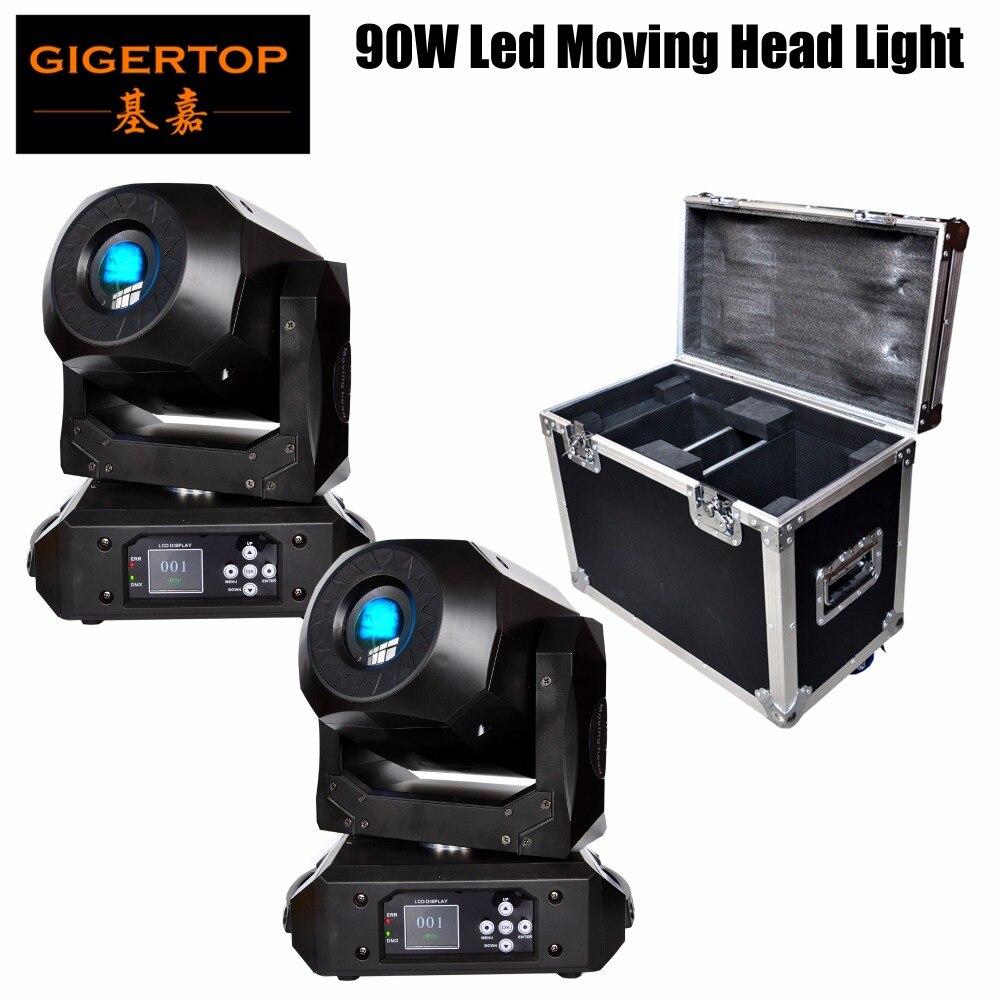 2IN1 Flight Case Pack 90 W LED Spot éclairage de scène 8 couleurs lumière avec 15 canaux pour fête Disco DJ DMX512 fête des mères