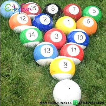 ENJOYFUN 16 Pieces A Lot Size 2/3/4/5 Snook Soccer Ball Billiard Ball Snooker Football For Snookball Game Toys #IS1015 soccer balls size 4