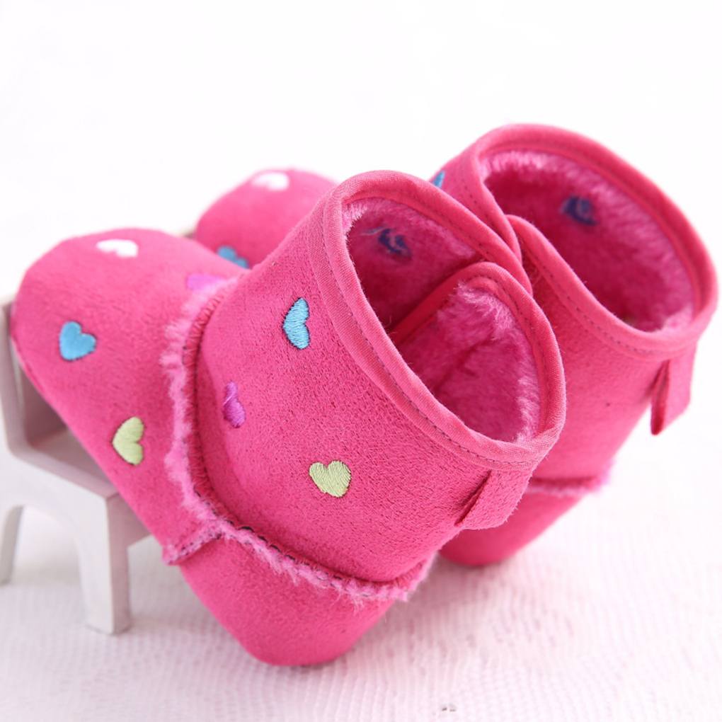 Bright Winter Baby Snow Boots Toddler Heart Shoes Baby Tube Shoes Soft Bottom Little Girls Walker Attractive Appearance Lights & Lighting