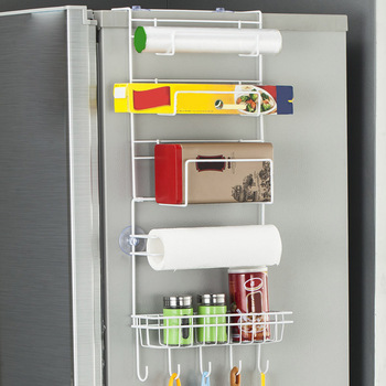Refrigerator Side Wall Hanger Kitchen Storage Rack Multifunction Hanging Shelf Drop shipping