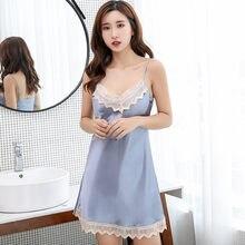 2019 New Pink Robe Rayon Casual Nightgown Satin Nightwear Sexy Loose Night  Dress Chinese Women Sleepwear Negligee Bath Gown ee35a3bfc