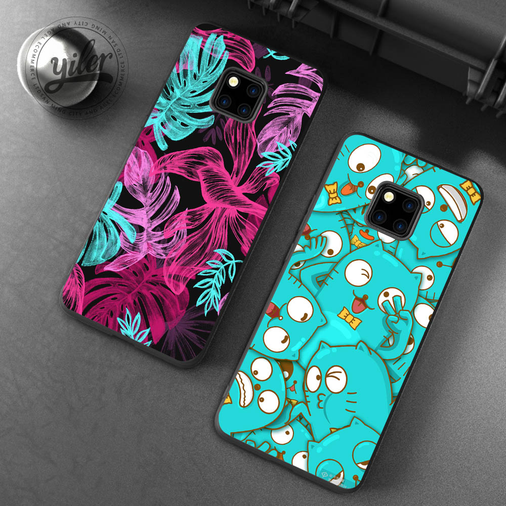 Case for Huawei Mate 20 Pro Flower Cherry Cases for Huawei Mate 20 lite 10 lite 10 Pro 9 Cases for Honor 7X 8X 8 9 lite 10 Cases in Fitted Cases from Cellphones Telecommunications