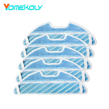 For Conga Vacuum Cleaner 5pcs Mop Cloths 1290 1390 Robot Vacuum Cleaner Replacement Accessories Parts 5 pcs lot chuwi ilife robot vacuum cleaner mop cloths for ilife v7s replacement mop cleaning robot vacuum cleaner mop