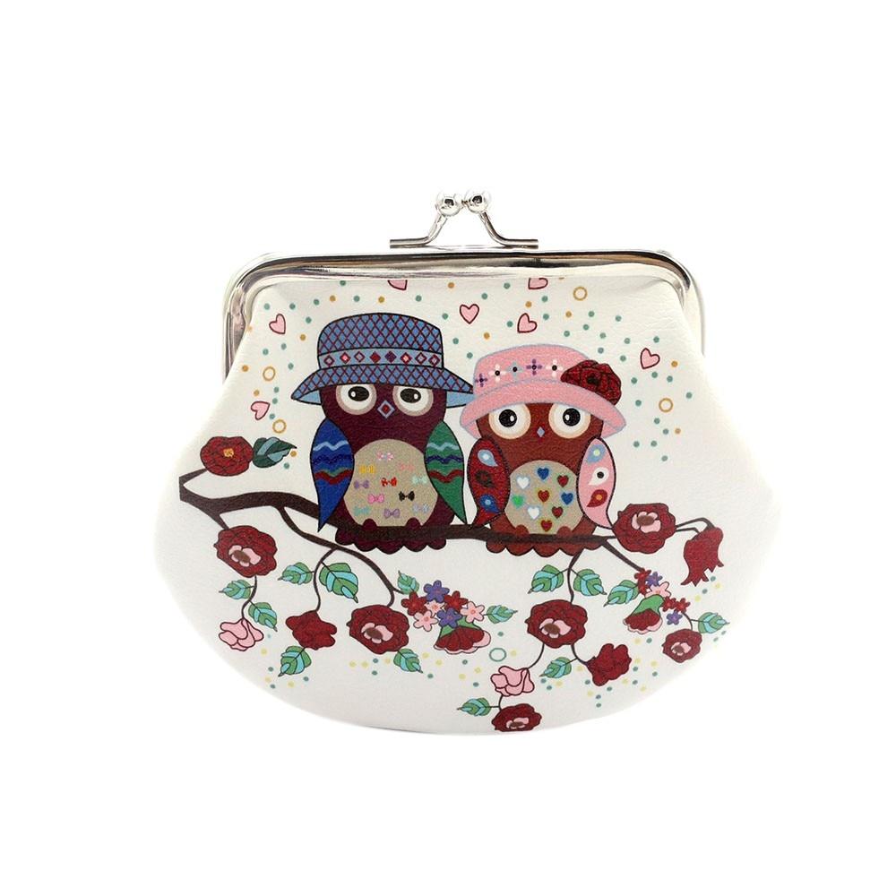 2018 Women Girls Cute Snacks Coin Purse Wallet Bag Change Pouch Key Holder Owl print purses coin purse bag pouch wallet women girls cute fashion snacks canvas purses wallets bags change key card holder a8