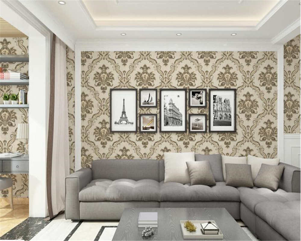 beibehang Fashion 3D relief wallpaper European simple non-woven papel de parede 3d wallpaper living room high back wall tapety beibehang fashion modern 3d relief