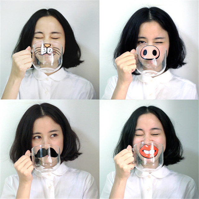 brixini.com - The Nose Pattern Mugs