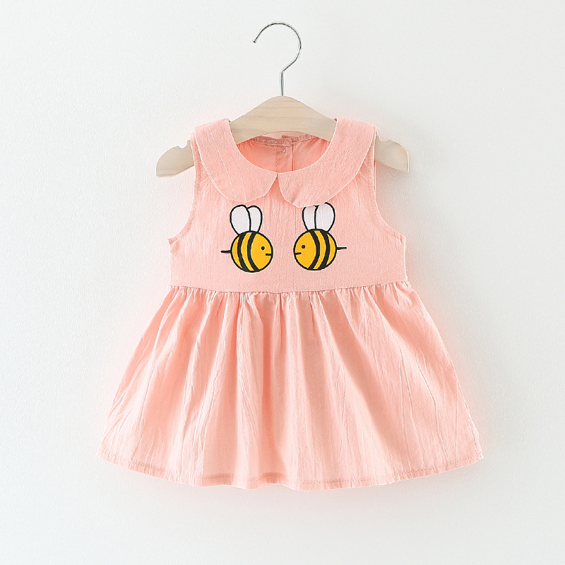 Baby Girl <font><b>Dress</b></font> 0-<font><b>2</b></font> year <font><b>birthday</b></font> <font><b>dress</b></font> cute bee cotton infant vestido infantil bowknot princess <font><b>dress</b></font> image