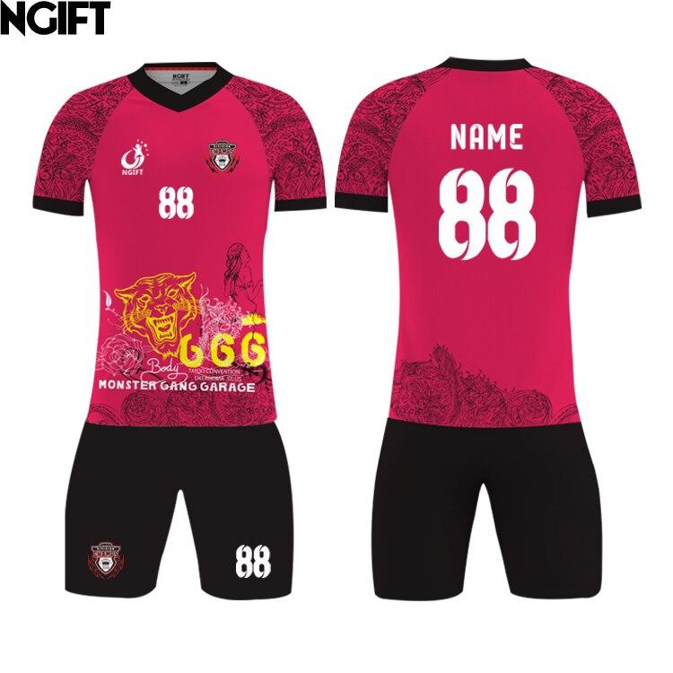 Ngift MOQ 5pcs 2018 design fully sublimation custom soccer jersey training  suit free print logo voetbal a635194c2