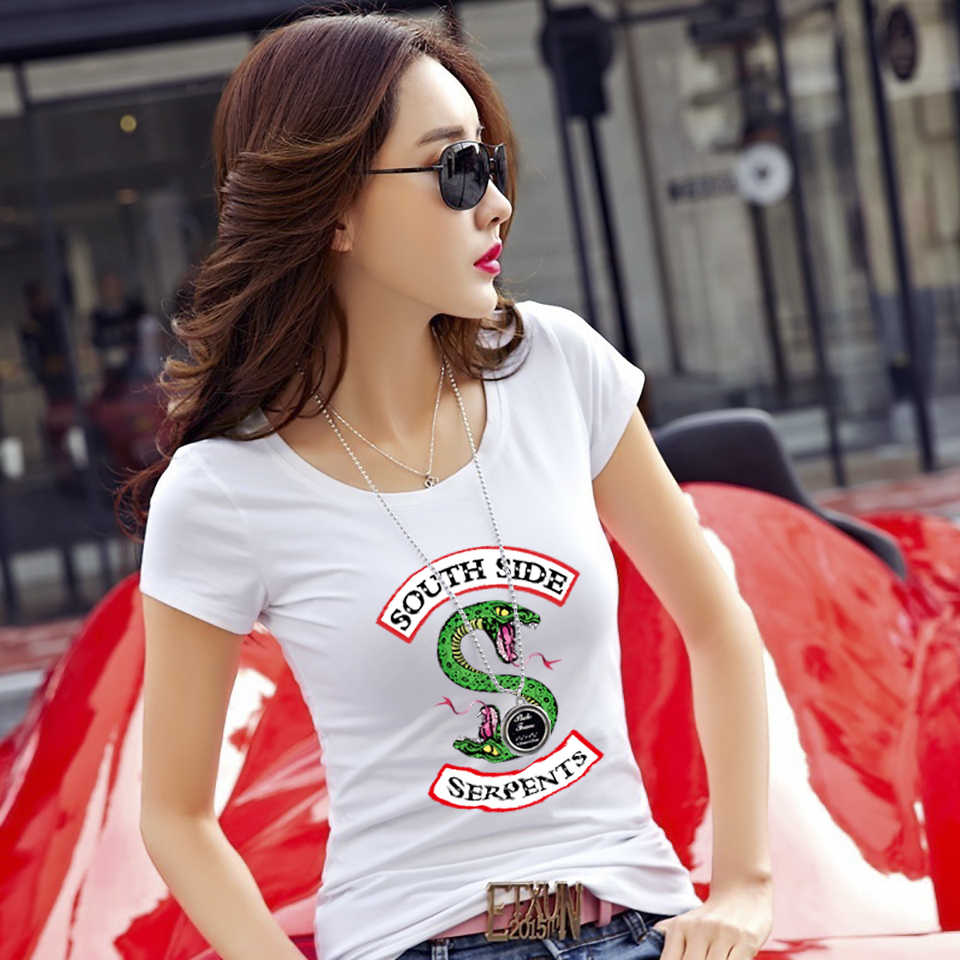 LCXY  Casual fashion slim women's t-shirt Trendy Riverdale Summer women T Shirt Hipster Like Breathable Comfortable T-shirt