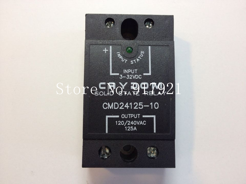 [ZOB] United States Crydom Qantas CMD24125-10 import 125A120-240V3-32V solid state relay --2pcs/lot ac to dc 12v 1a power adaptor with 5 4mm dc plug eu type 110 240v