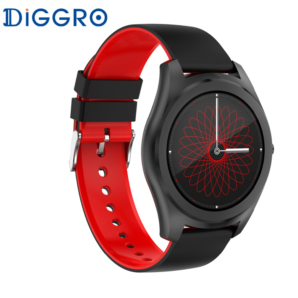 Diggro DI03 Smart Watch IP67 Heart Rate Monitor Pedometer Fitness Tracker Bluetooth Smartwatch Sleep Monitor for IOS & Android bluetooth siri diggro di02 mtk2502c 128mb 64mb smart watch heart rate pedometer sleep monitor sedentary android & ios reminder