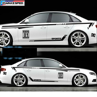Racing Sport Styling Waist Lines Decal Customized Car Body Whole Vinyl Stickers For Toyota Honda Audi A4 A5 A6A7