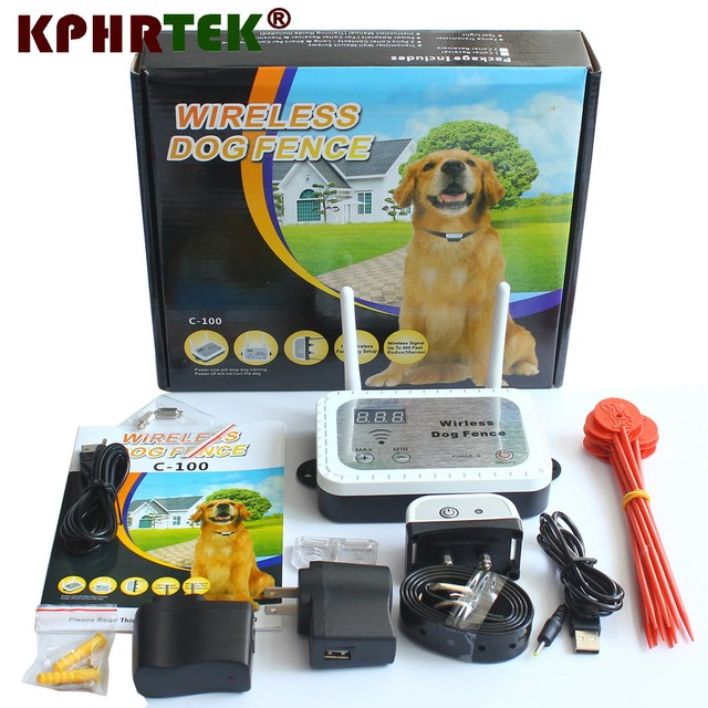 dual antenna dog fence wireless containment system wire free fencing c100 rechargeable receiver and waterproof 31020180621