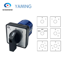 LW26-20 Electric 2/3/4/6/7 position Silver contact 20A 660V 3 poles Control Rotary Changeover Cam Switch LW28-20 YMW26-20/3 lw26 ymw26 25 4 rotary switch knob 3 position 1 0 2 high quality changeover cam switch 25a 4 phase 16 terminals silver contact