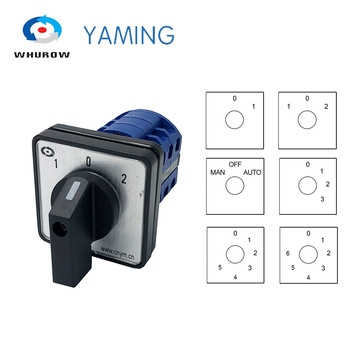 lw26 20 rotary switch knob 2 position 0 1 on off high quality changeover cam switch ui 690v ith 20a 1 pole 4 terminals LW26-20 Electric 2/3/4/6/7 position Silver contact 20A 660V 3 poles Control Rotary Changeover Cam Switch LW28-20 YMW26-20/3