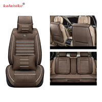Kalaisike Linen Universal Car Seat covers for Peugeot all models 508 208 308 206 307 407 207 2008 3008 406 301 607 car styling