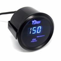 Universale 52mm Digital LED Blu Olio Manometro Auto Da Corsa modificato Calibro Con Sensore 0-150 PSI Auto Motor Car di trasporto libero