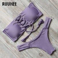 RUUHEE Bikini Swimwear Swimsuit Bathing Suit Women Sexy Brazilian Bikini Set Push Up 2017 Summer Beach