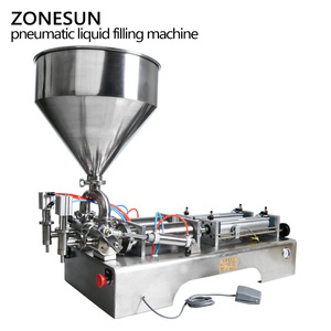 Image 3 - ZONESUN כפול ראשי מכונת מילוי אוטומטי פנאומטי הופר שמפו קרם לחות קרם קוסמטי שמן דבש