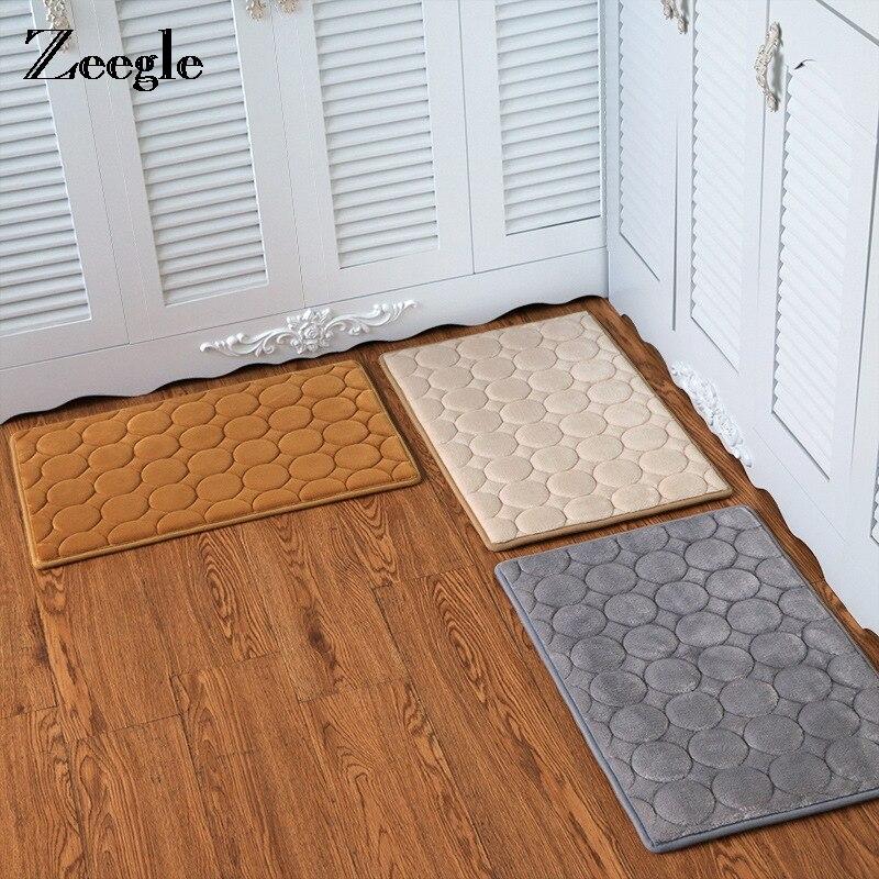 Zeegle Memory Foam Area Rug For Living Room Mats For Hallway Anti Slip Floor Mats For Kitchen