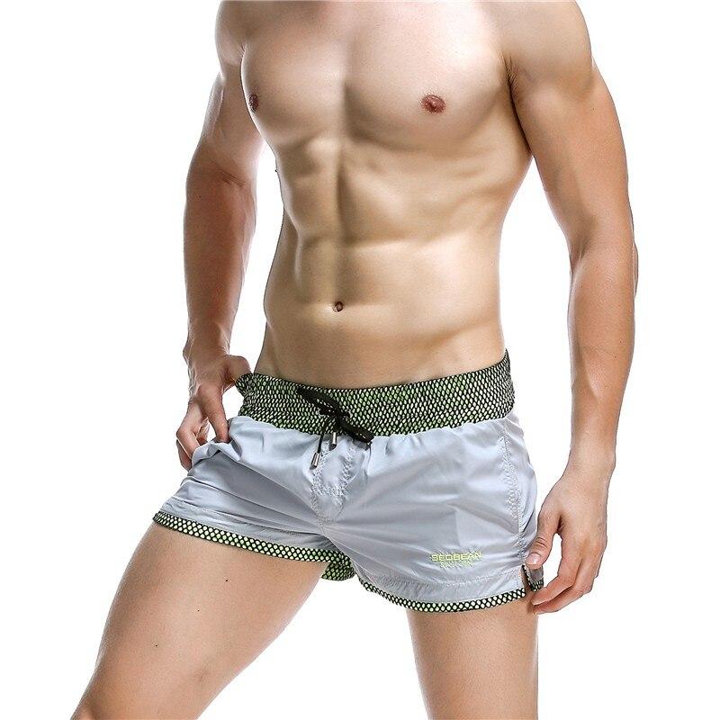SEOBEAN Lined Mesh Shorts Mens Summer Run Short Cortos Hombre Pantalones Pocket Casual Shorts Sweat Lining Fishnet Safety Shorts