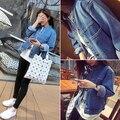 2017 весной новый приход сплошной цвет bf опрятный стиль промывочной воды свободные джинсовые верхняя одежда жакет женский