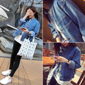 2017 spring new arrival solid color bf preppy style water wash loose denim outerwear jacket female