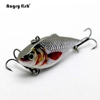 Angryfish 5ピース釣りルアー62ミリメートル8グラムリアルなルアー人工餌有刺フックセットHF-001