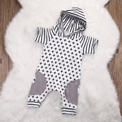 Cute-Infant-Baby-Girls-Boy-Hooded-Short-Sleeve-Striped-Romper-Cross-Jumpsuit-Playsuit-Outfits-Costume-2