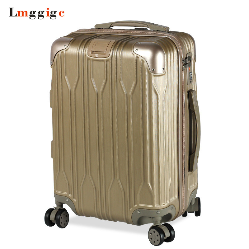 Spinner Rolling Luggage Travel Suitcase Bag,Nniversal wheel Trolley Case,Zipper PC+ABS Carry-On,New Multiwheel Box with Lock 20242628 aluminum frame luggage new travel suitcase with spinner rolling trolley case carry on with wheel pc hard shell box