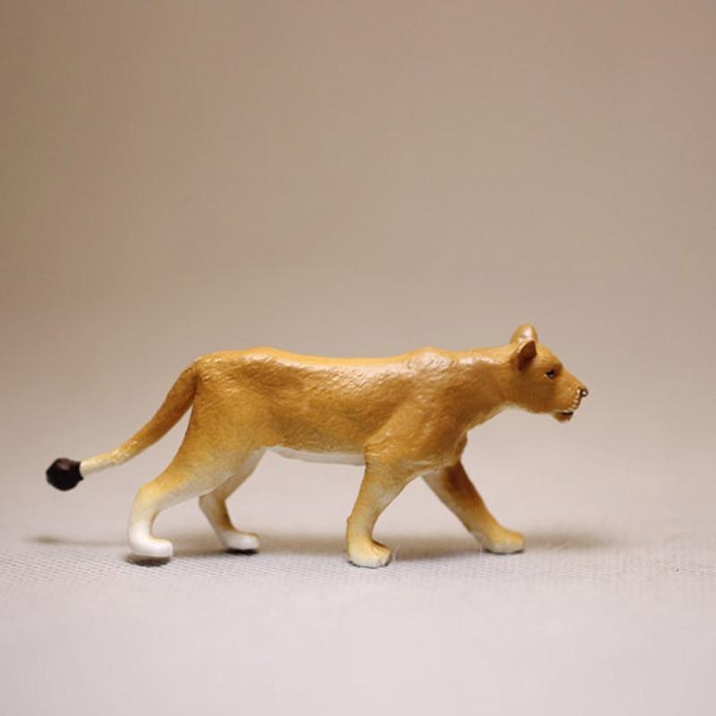 Animais modelo leão brinquedos mini figuras de ação parque zoológico selvagem simulação leão modelo brinquedos criança cedo brinquedos educativos casa decoração presentes