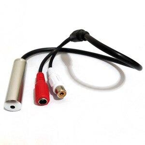 Image 5 - CCTV Microfono per la registrazione audio con dc e porta av Vasta Gamma di Alta Metallo Sensibile audio CCTV Microfono Dispositivo Per CCTV DVR di sicurezza