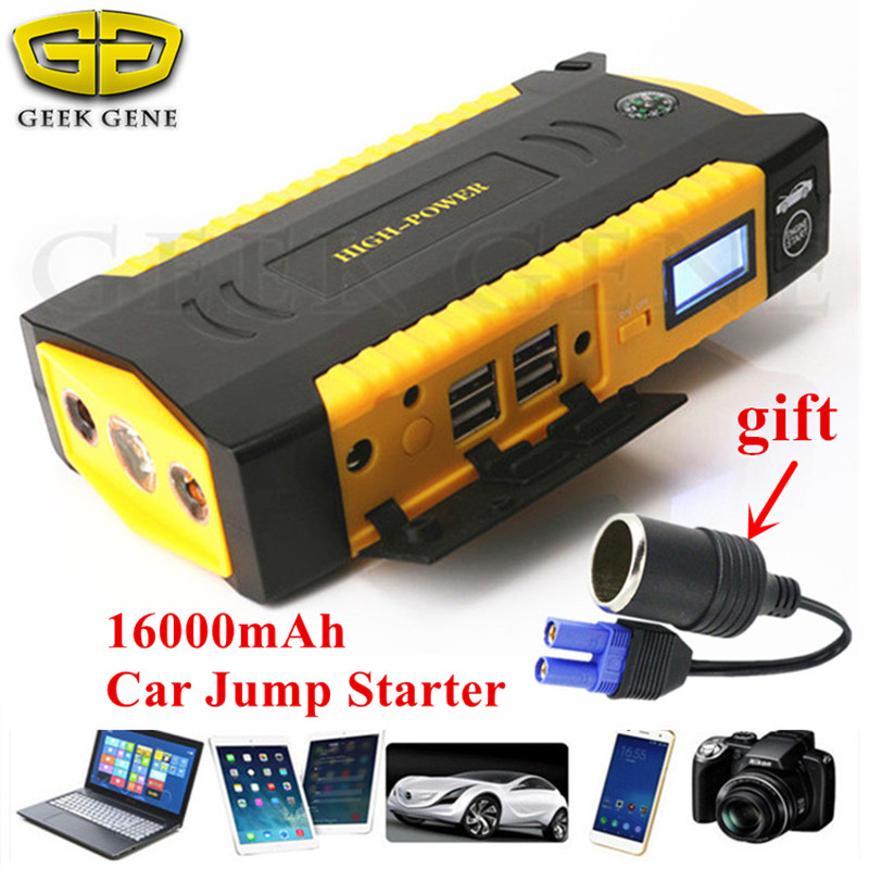 Car Jump Starter 600A 12V Car Charger For Car Battery Booster Portable 16000mAh Starting Device Power Bank Diesel Petrol Starter