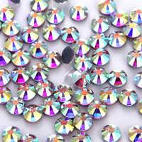 1440 Uds AB espalda plana DIY Strass piedras de cristal y diamantes de imitación de cristal de fijación caliente ropa de vestir de diamantes de imitación arte de uñas Diamante