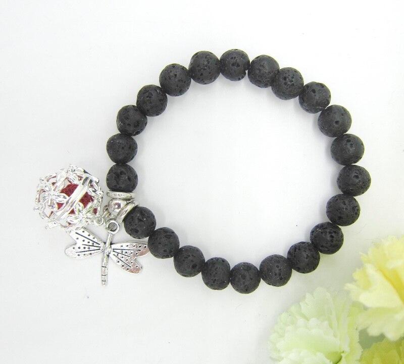 Openable Locket Lava Beads Aroma Oil Diffuser Bracelet