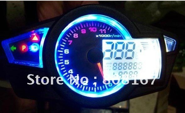 Free Shipping Universal Digital Speedometer Odometer Dashboard for Scooter, ATV, Street bike