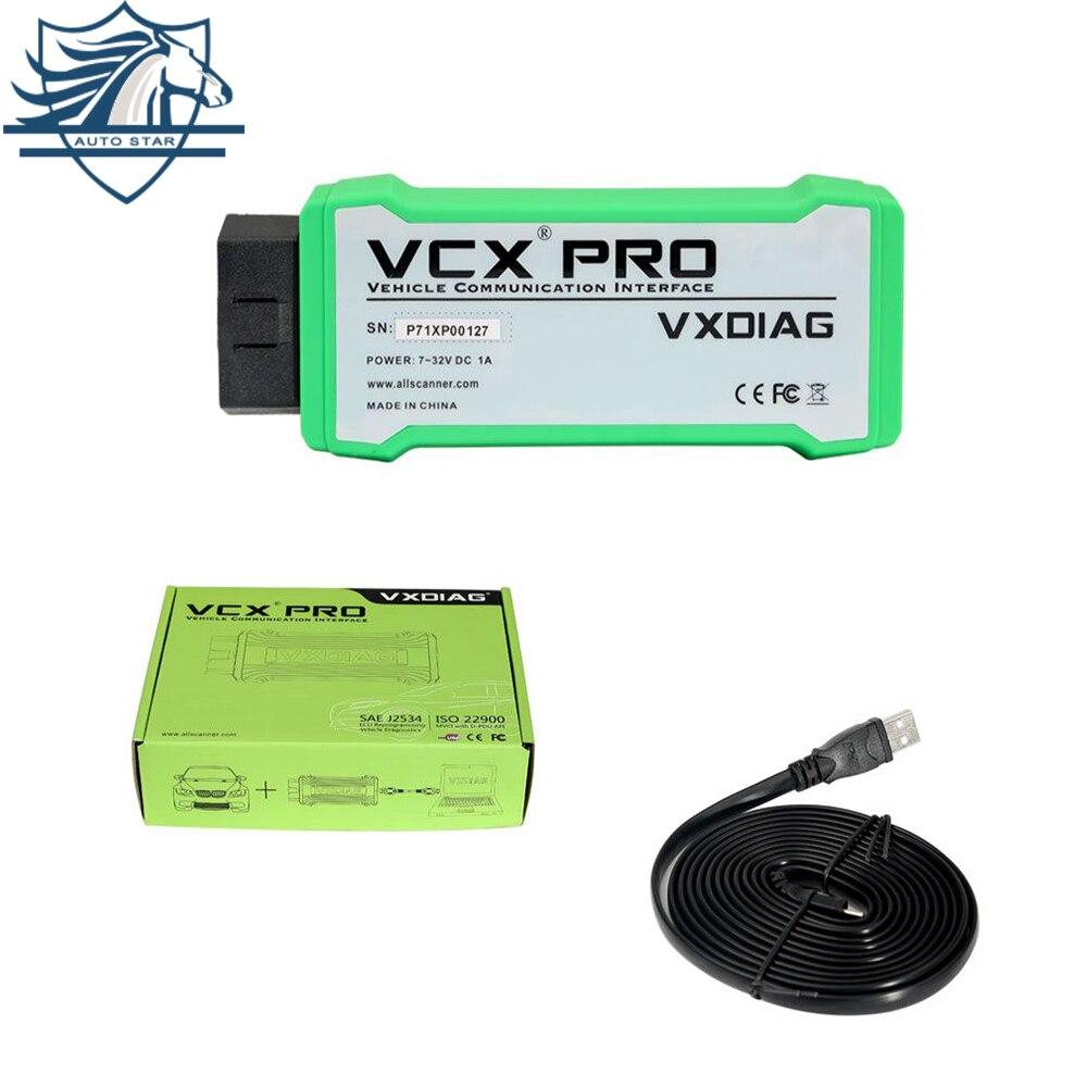 Новый VXDIAG VCX NANO PRO для GM FORD MAZDA VW HONDA VOLVO TOYOTA Jaguar 3 в 1 инструмент диагностики авто