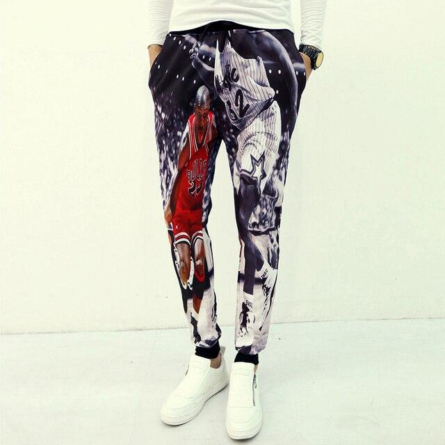 5f627620c114c5 2015 New 3D Trousers Michael Jordan Classic Play Basketball Graphic Printed  Sweatpants Jordan Joggers Pants Hip