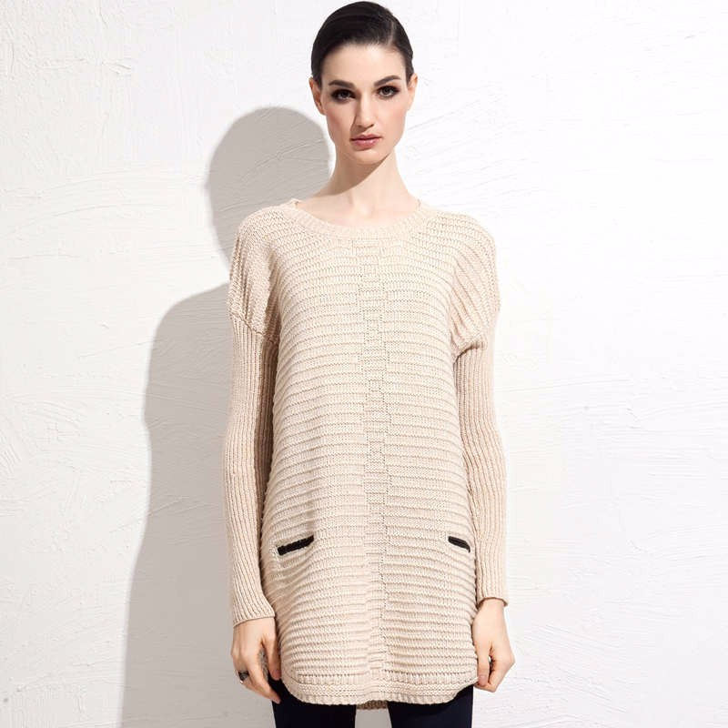 Wool Blends fall mid length sweater 2