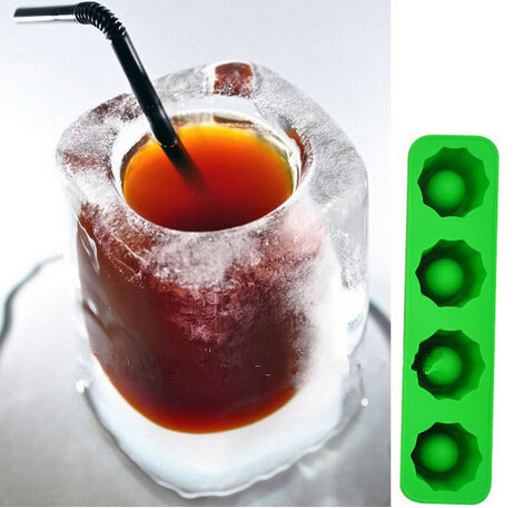 60 pcs Fashion Hot ICE TRAY Cup Silicone Ice Cube Colorful DIY Popsicle Mold Ice Wine Glass Baking Tools